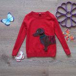 Интересный свитер с собачкой