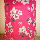 Шикарная Нарядная Брендовая Яркая, малиновая блуза, с красивыми рукавами-плиссе