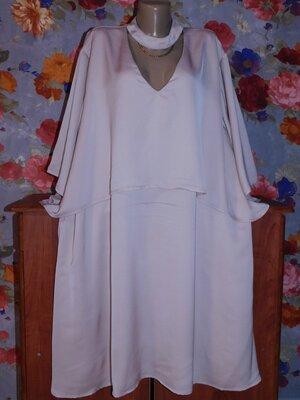 Красивое Пудровое Брендовое Платье Для Пышной Красы