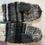 Вязаные, двойные, плотные, очень теплые рукавички, варежки.