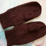 Вязаные, теплые рукавички, варежки