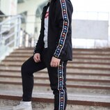 Зимние спортивные штаны Kappa Black Colored, на флисе