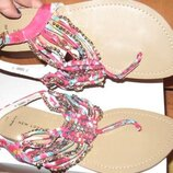 рожеві вєтнамки ланцюжки New look р40 нові