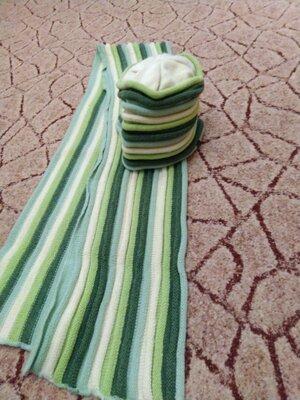 Комплект,шапка и шарф