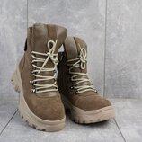 Зимние женские ботинки Mkrafvt 1188 натуральная замша