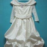 Шикарное нарядное платье для девочек 7-9 лет Для торжеств, утренников