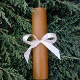 Высокая свеча из натурального пчелиного воска