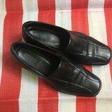 Шикарные комфортные кожаные туфли ecco /натуральная кожа