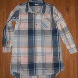 Удлиненная рубашка Next девочке 7-9лет