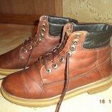Ботинки Timberland Тимберленд, р.40, натур.кожа, натур.мех