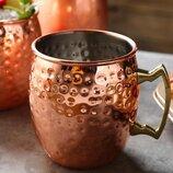 Металлическая кружка, Кружка Moscow mule, барная кружка, медная кружка, медная чашка