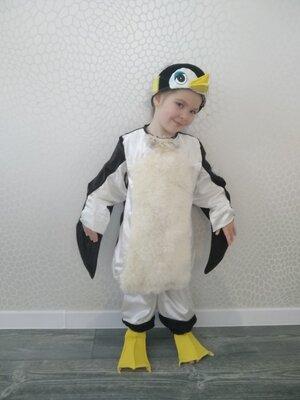 прокат карнавальный костюм новогодний пингвин пінгвін новогодние,на утренник Киев мальчик девочка