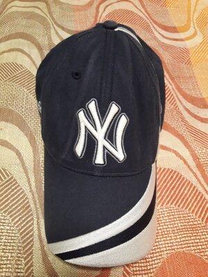 Кепка бейсболка фирменная синяя New York на объём головы 56-58
