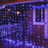 Гирлянда штора синяя на 560 LED лампочек