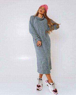 Вязание платье,4 цвета