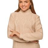 Красивый вязаный свитер для девочек 128-152р