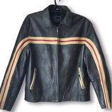 Кожаная куртка байкерская.J.F.G. basic