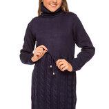 Зимнее платье с высоким воротником для девочки 128-152р