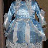 Детский карнавальный костюм Эльза, Мальвина, Кукла, Льдинка, Зима - Прокат
