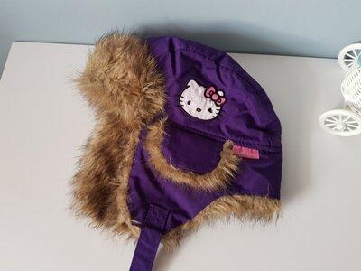 Шапка ушанка Hello Kitty от H&M 3-6 лет.