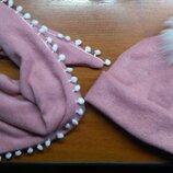 Шапка шарф зима