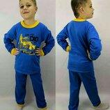 Пижама Пижамка теплая с начесом на баечке, начес Хлопок 92-98-104-110-116-122-128-134-140