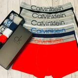 Набор 5 шт в коробке. Мужские трусы боксеры Calvin Klein
