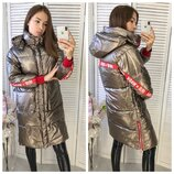 Женская объемная куртка пуховик парка irie wash бронзовая