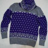 Стильный теплый свитер от Janina