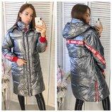 Женская объемная куртка пуховик парка irie wash серебро