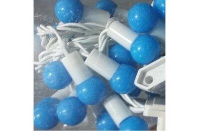 Гирлянда Шарики синие 40 led на белом проводе