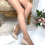 Женские туфли лодочки пудра бежевые , замшевые