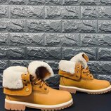 Ботинки зима timberland натур.нубук,натур.цигейка