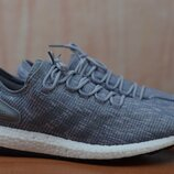 Мужские серо голубые кроссовки Adidas PureBoost, адидас, 44 размер. Оригинал