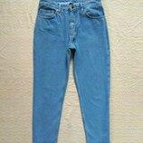 Винтажные джинсы мом бойфренды с крутой бахромой Top shop, 10 pазмер.