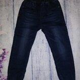 Утепленные джинсы джогеры для мальчиков 98 - 128