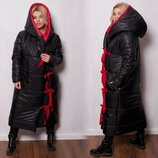 Пальто тёплое зимнее 8827 р 50-60