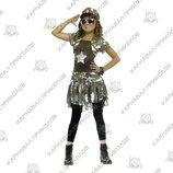 Маскарадный костюм солдатка размер 7-9 лет 10-12