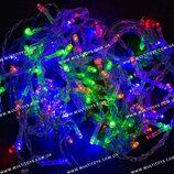 Гирлянда-Штора светодиодная 100 ламп.,мультиколор в кор. 12 6 8см /100/