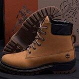 Мужские зимние кожаные ботинки 125 риж. new