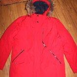 Зимняя мужская куртка, с мехом на капюшоне, Black Vynyl, размер L - XL
