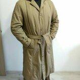Фирменное мужское классическое пальто на синтепоне. Утеплённый плащ. Тренч мужской. Германия.