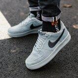 Nike Air Force Grey Fur зимние