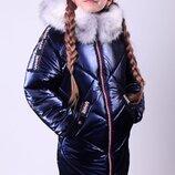 Новинка сезона, пальто зимнее Полина 134-158 см.