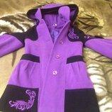 Пальто размер 30 полномерное на 6-8 лет