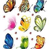 Декоративная наклейка бабочки 21х16см