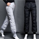 Женские штаны дутики плащевка, тёплые