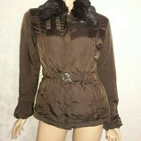 курточка с мехом норки trussardi размер м