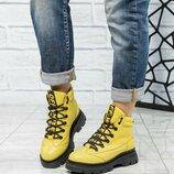 Код 6371 Зимние ботинки Натуральная кожа Внутри шерсть Высота подошвы 5/2.5 см Высота изделия 10.5 с