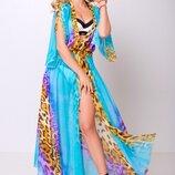 Платье-Туника артикул Эквадор Цвет хищный принт голубой
